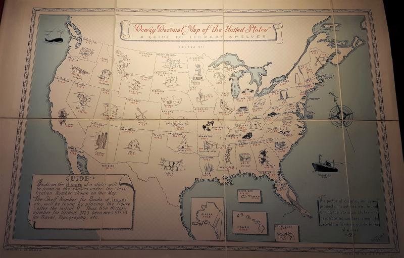 025.431: The Dewey blog: Mapping Dewey: 1936 Dewey Decimal ... on map of eagle butte south dakota, map of timber lake south dakota, map of vermillion south dakota, map of mobridge south dakota,